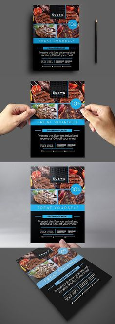 Restaurant Flyer Template. Flyer Templates. $9.00