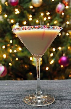 Sugar-Cookie-Martini.  This one is outstanding!  Instead of using just the regular vodka that this recipe calls for, I used Smirnoff's new Caramel vodka, and the Butterscotch Schnapps with non-fat milk (okay, so I try to save calories where I can!).  It was excellent, particularly if you enjoy sweet dessert cocktails.  Try it!  :)