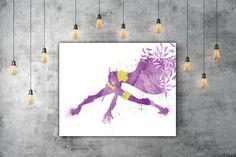 Batgirl Art, Superhero Kids Room Wall Art, Comic Book Gift, Bat Girl Nursery Art, DC Comics Print, Yellow Purple Nursery Decor, Yellow Decor by PRINTANDPROUD on Etsy
