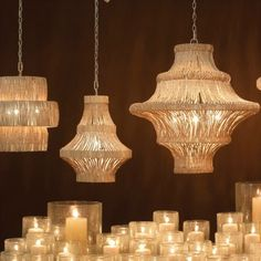 Papillion Chandelier - Natural