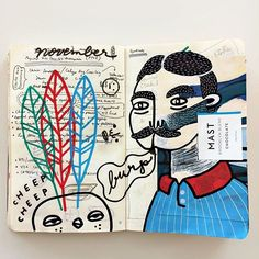 #sketchbook . . . . #art #artoftheday #artwork #draw #drawing #illustration #sketch #handmade #handdrawn #handdrawnart #design #penandink #markers #texture #type #typography #lettering #illustrator #photoshop #vector #pattern #logo #doodle #painting #moustache #bird