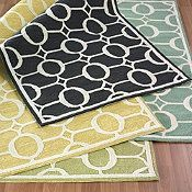 area rugs:yellow, green