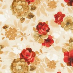 Topaz Small   Floral Cotton Quilt Fabric Fabri-Quilt Large Floral Browns BFab by BostonFabricStash on Etsy https://www.etsy.com/listing/259695672/topaz-small-floral-cotton-quilt-fabric