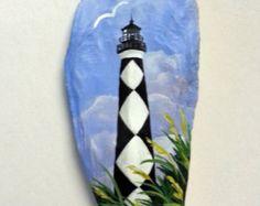 Seashell Magnet Cape Hatteras Lighthouse Hand by TheSeashellStudio
