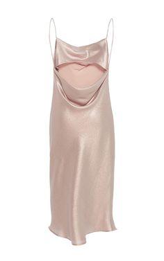 Metallic Lamé Slip Dress by KAELEN for Preorder on Moda Operandi