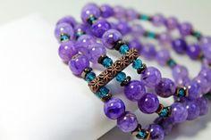 Agate Purple Bracelet by Yvets on Etsy