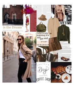 """""""If you have only one smile in you give it to the people you love... by Maya Angelou"""" by valentina-back ❤ liked on Polyvore featuring Avenue, Zara, Veronica Beard, Topshop, Salvatore Ferragamo, Barneys New York, Rusty, Lele Sadoughi, StreetStyle and brown"""