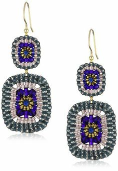Shop a great selection of Miguel Ases Miguel Ases Blue Quartz Swarovski Square Drop Earrings. Find new offer and Similar products for Miguel Ases Miguel Ases Blue Quartz Swarovski Square Drop Earrings. Seed Bead Jewelry, Seed Bead Earrings, Beaded Jewelry, Beaded Earrings Patterns, Beading Patterns, Handmade Jewelry Tutorials, Ideas Joyería, Earring Tutorial, Teardrop Earrings