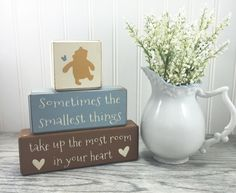These Winnie the Pooh baby shower decoration would be the perfect addition to your next party. A wonderful classic pooh piece that the mom to be can take home and display in the nursery. Measures: 7.5 wide by 8 tall as shown. Colors used are brown, cream and lt. Blue •••Designed by Apple Jack designs •••