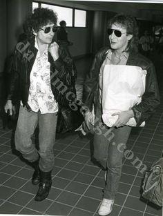Bob Dylan, Julian Lennon 1986 LA.