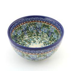 Little bowl - Polish pottery - Polská keramika - Krásná ručně zdobená miska. Veškerá naše keramika lze používat denně v myčkách na nádobí a v mikrovlnných i pečících troubách.