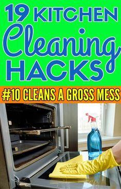 19 kitchen cleaning hacks that are super helpful when you don't know where to start cleaning in your kitchen
