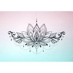 lotus mandala underboob tattoo - Buscar con Google                                                                                                                                                                                 More
