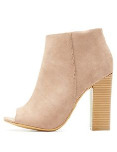 Bamboo Peep Toe Booties