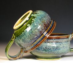 Love the colours as well as the shape!                                                                             @Charles Hughes  #cup #pottery #ceramics
