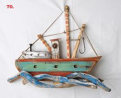 Another rustic wooden boat!