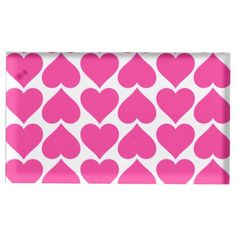 Pink Hearts Table Card Holder
