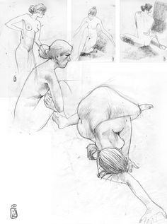 life drawing on Behance