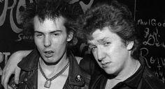 Sid Vicious and Steve Jones, 5th January 1978 - Great Southeast Music Hall, Atlanta, Georgia Photo © Louie Favorite