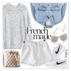 """""""Zaful"""" by teoecar ❤ liked on Polyvore featuring NIKE, Rebecca Taylor, Le Specs and zaful"""