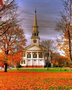 Church on a New England Green First ... / America The Beautiful