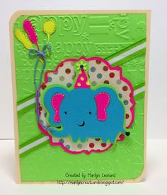~ Marilyn's Cricut Cards ~: Party Elephant - Create a Critter 2