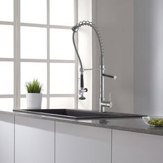 Kraus Commercial Pre-rinse Chrome Kitchen Faucet - 11345091 - Overstock Shopping - Great Deals on Kraus Kitchen Faucets