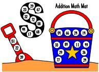 Addition Math Mats---you have to create your own problems