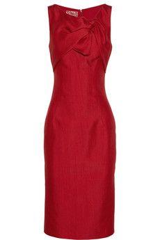 GIAMBATTISTA VALLI  Silk and cotton-blend twist-bow dress  $2,493.77