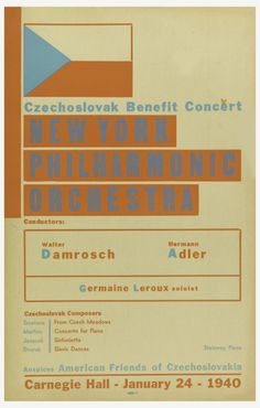 Ladislav Sutnar, poster for czechoslovakian benefit concert,...