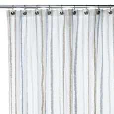 This Shower Curtain Is Going In My Cottage Bathroom White Glossy Beadboard Wainscotting With Aqua