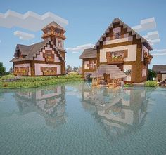House on the lake Minecraft Project もっと見る