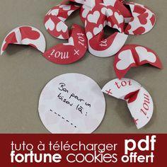 Tuto DiY gratuit St Valentin - fortune cookie origami