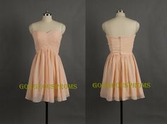 Cheap Short Blush Pink Aline Sweetheart by GorgeousProms on Etsy, $69.99