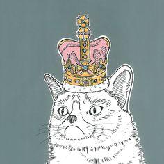Grumpy Cat In A Crown