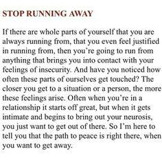 Stop running away