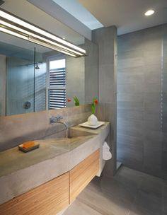 CONCRETE SINK . Ricon Bates - industrial - bathroom - dc metro - by Studio Twenty Seven Architecture