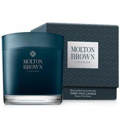 Black Leather Accord & Cade Dreidocht-Kerze - Molton Brown