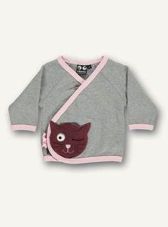 24. Baby Sweat, grey melange/pink