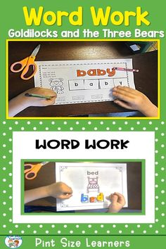 Use this favorite familiar fairy tale to practice literacy skills in pre-k and kindergarten. Children listen for the number of syllables in a word and clip the number on the clip cards. They use magnetic letters to match letters that spell Three Bears vocabulary words. Worksheets using the same words and pictures allow them to color the word, build the word, then write the word. Word and letter cards are also included for the students to match up at the pocket chart or as a memory type game.