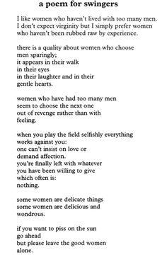 Charles Bukowski - A Poem for Swingers