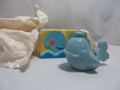 Vintage 70s Avon Wilbur The Whale Bar Soap On A Rope Fragrance Juvenile w Box #Avon #Vintage