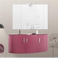 Mobile bagno curvo sospeso N12 Atlantic cm 106 | bagni | Pinterest ...