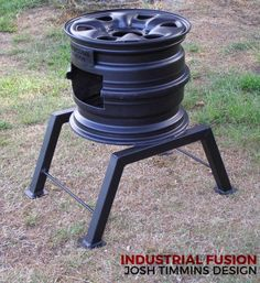 "Deluxe ""Rim of Fire"" Metal Projects, Welding Projects, Rim Fire Pit, Fire Pits, Diy Wood Stove, Coal Stove, Fire Pit Designs, Rocket Stoves, Wood Burner"