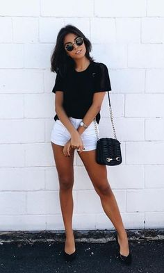 Fashion outfits - 47 Hottest Summer Outfits Ideas To Stand Out From The Crowd – Fashion outfits Hot Summer Outfits, Short Outfits, Stylish Outfits, Spring Outfits, Cute Outfits, Casual Summer, Summer Clothes, Cute Fashion, Fashion Outfits