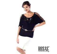 O preto e o branco são uma dupla infalível... Fazem sucesso sempre e você dificilmente vai errar com ela...  32981 - Blusa Malha Dayane www.rosasconfeccoes.com