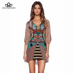 women sexy casual print dress
