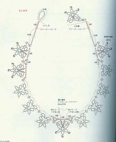 Perfect to make into a frozen themed necklace for my little Elsa. Tatting Necklace, Tatting Jewelry, Tatting Lace, Beaded Jewelry, Handmade Jewelry, Wire Necklace, Tatting Patterns Free, Lace Patterns, Jewelry Patterns