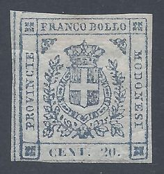 86750d44-71ad-4f80-b88e-4e7ab6aa0824.jpg (JPEG imagine, 589 × 626 pixeli) - Scalată (97%)Modena 1859 stamp – Savoy coat of arms. 20 cents, slate-coloured