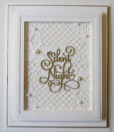 PartiCraft (Participate In Craft): Swirled Silent Night Die Cut Christmas Cards, Homemade Christmas Cards, Xmas Cards, Homemade Cards, Christmas Trees, Silent Night, Winter Cards, Sue Wilson, Making Ideas
